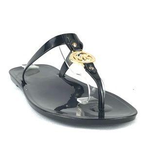 MICHAEL Kors Black Rubber Flip Flops Sandals